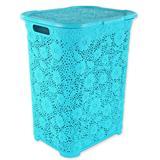 50 Liter Wäschekorb Atmungsaktiv im trendigen Blumenmuster in 7 Farben