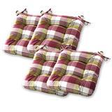 4er Set Stepp- Stuhlkissen von Gräfenstayn für drinnen und draußen in 8 versch. Farben und Muster