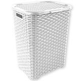 90 Liter Wäschekorb Wäschesammler Wäschebox in Rattan Optik