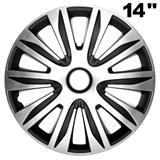 """14"""", 15\'\' und 16\'\' Zoll Radkappen Radzierblenden Nardo Silber"""