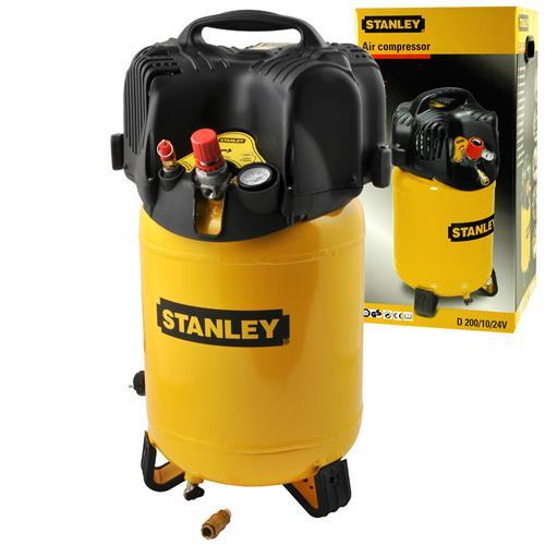 stanley druckluft kompressor 1100w 10 bar 24 liter 1 5 ps luftkompressor ebay. Black Bedroom Furniture Sets. Home Design Ideas
