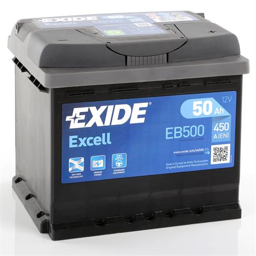 exide excell 50ah autobatterie starterbatterie. Black Bedroom Furniture Sets. Home Design Ideas