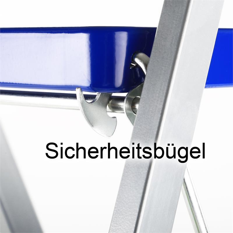 haushaltsleiter klapptritt 2 3 4 stufen stehleiter stahl trittleiter leiter ebay. Black Bedroom Furniture Sets. Home Design Ideas