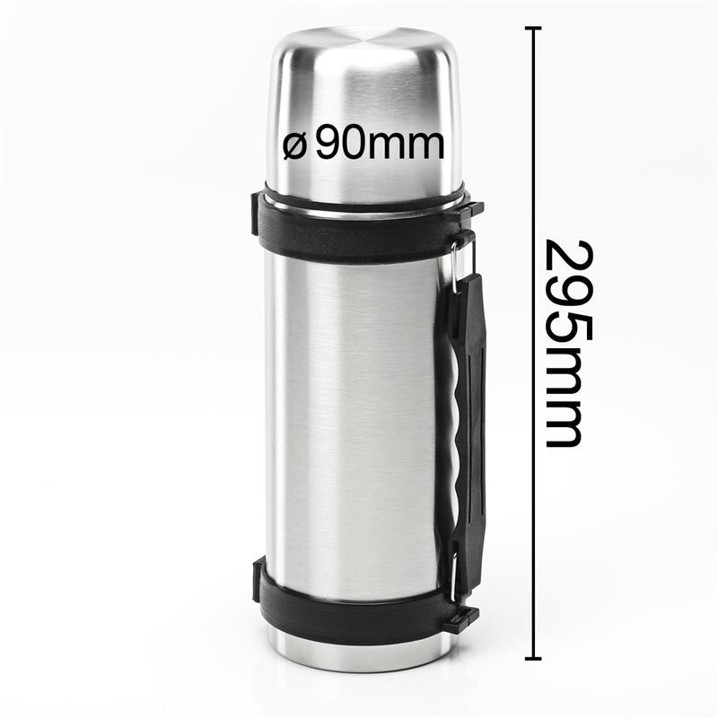 isolierflasche 1 liter thermoflasche thermoskanne edelstahl klickverschluss ebay. Black Bedroom Furniture Sets. Home Design Ideas
