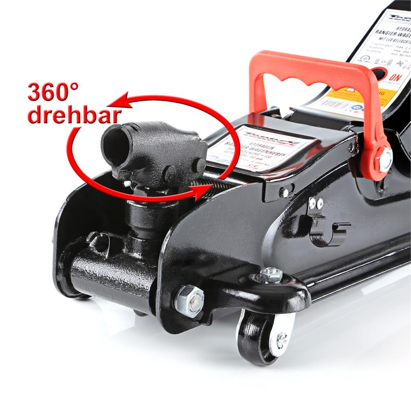 rangierwagenheber 2 25t hydraulischer wagenheber mit led beleuchtung 2250kg ebay. Black Bedroom Furniture Sets. Home Design Ideas