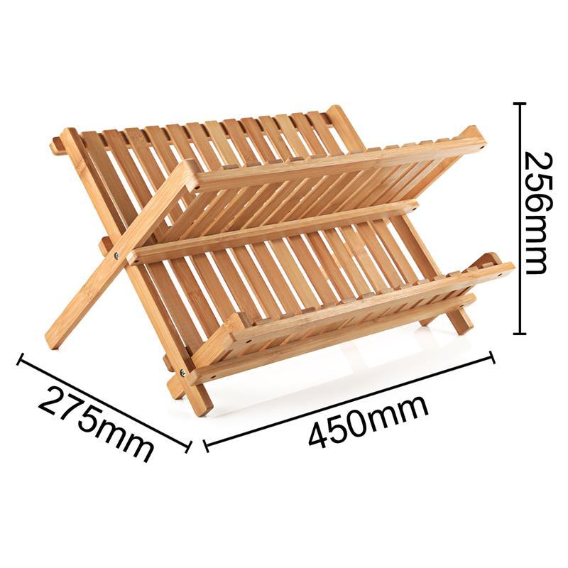 abtropfgestell xl aus bambus klappbar abtropfgitter abtropfkorb geschirr st nder ebay. Black Bedroom Furniture Sets. Home Design Ideas