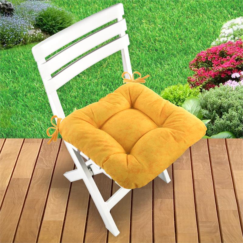 4er set stuhlkissen sitzkissen 40x40x10cm steppkissen. Black Bedroom Furniture Sets. Home Design Ideas