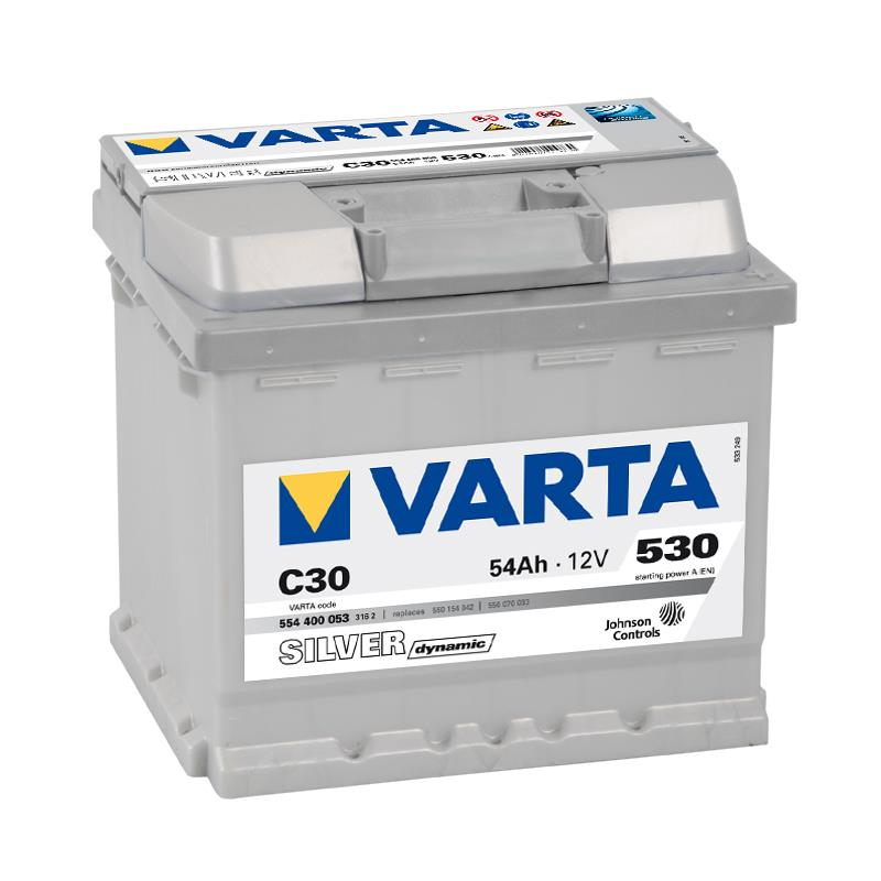 varta silver dynamic autobatterie c30 54ah vw polo 6n ebay. Black Bedroom Furniture Sets. Home Design Ideas