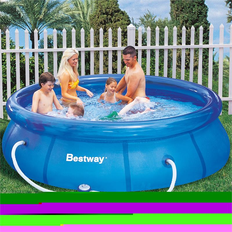 bestway 305x76cm fast pool set mit pumpe swimmingpool. Black Bedroom Furniture Sets. Home Design Ideas