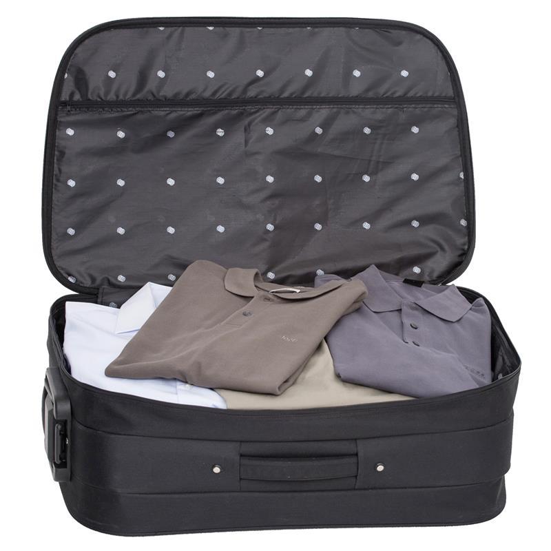 kofferset reisekoffer stoff trolley 2 tlg koffer business koffer 360 rollen ebay. Black Bedroom Furniture Sets. Home Design Ideas
