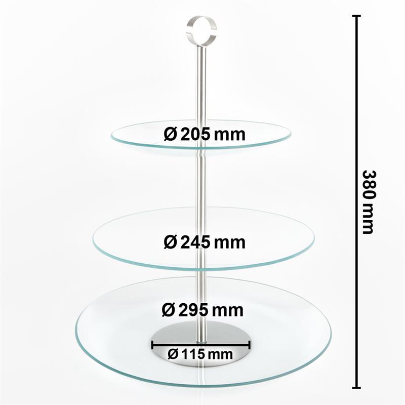 etagere glas obstschale 3 stufig tortenst nder geb ckschale schale servierplatte ebay. Black Bedroom Furniture Sets. Home Design Ideas