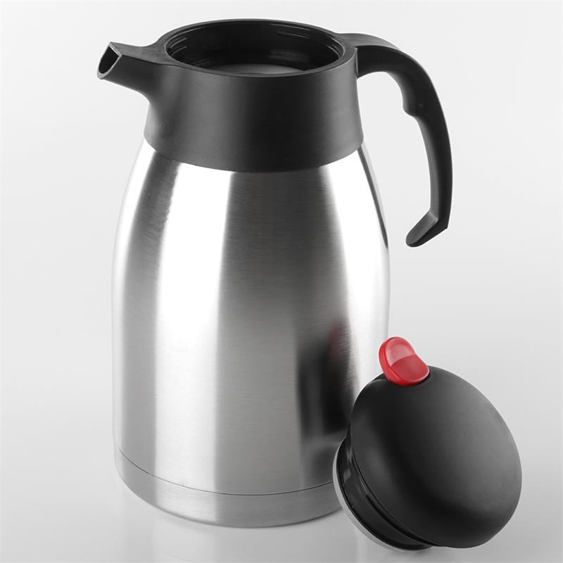 1 5l edelstahl thermoskanne isolierkanne kaffeekanne teekanne isolierflasche ebay. Black Bedroom Furniture Sets. Home Design Ideas