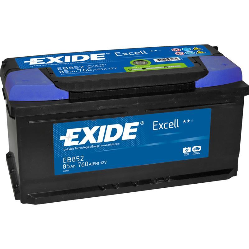 exide excell 85ah autobatterie starterbatterie. Black Bedroom Furniture Sets. Home Design Ideas