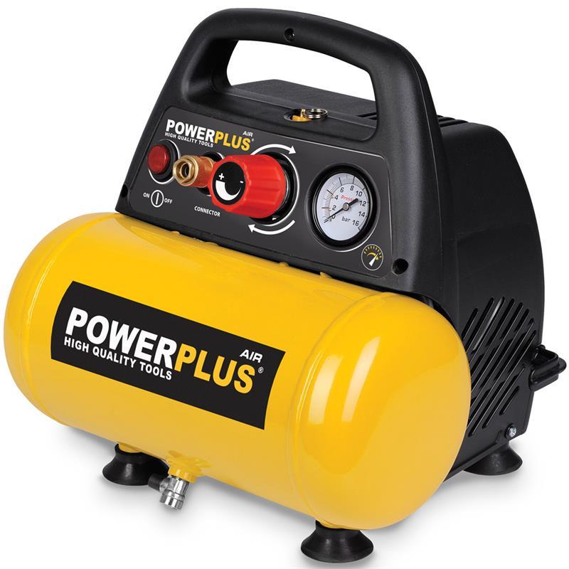 powerplus kompressor 6l industriewerkzeuge ausr stung. Black Bedroom Furniture Sets. Home Design Ideas