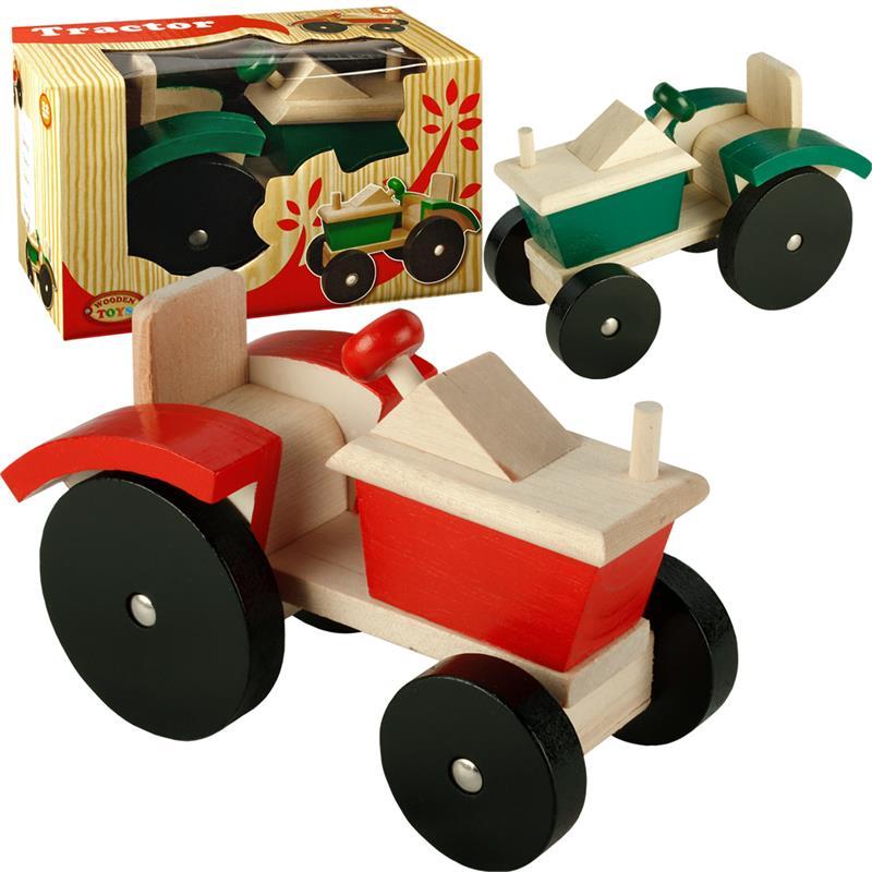 Holztraktor traktor trecker bauernhof holzspielzeug
