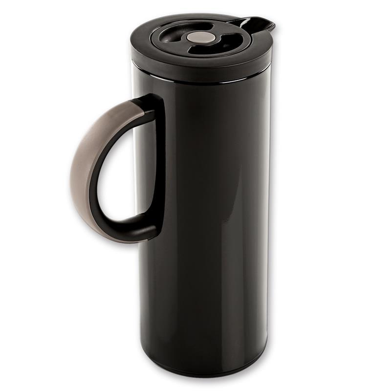 1 liter isolierkanne kaffeekanne teekanne thermosflasche thermoskanne metall ebay. Black Bedroom Furniture Sets. Home Design Ideas