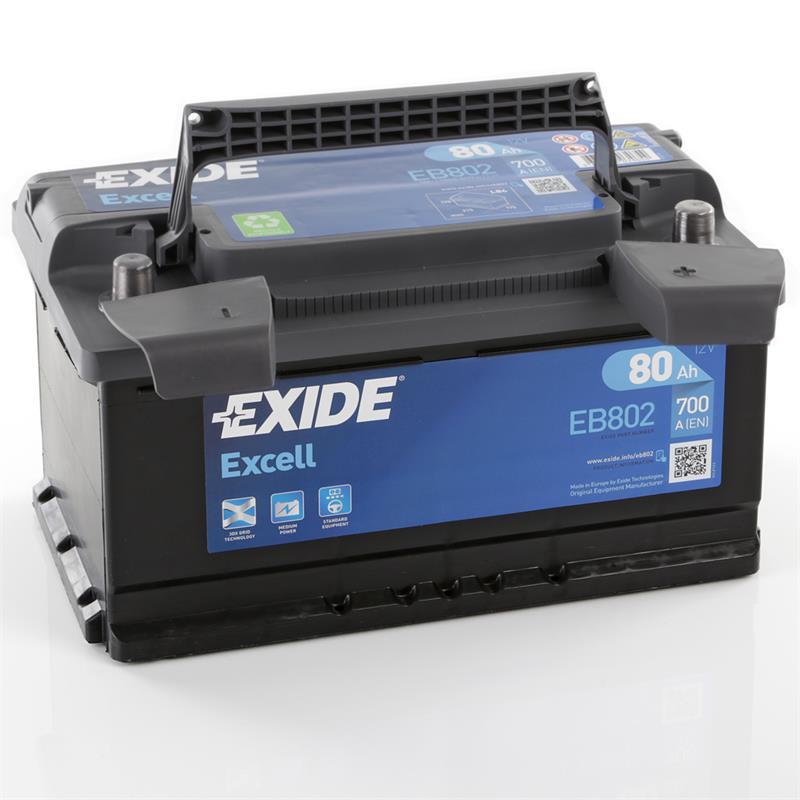 exide excell 80ah autobatterie starterbatterie. Black Bedroom Furniture Sets. Home Design Ideas