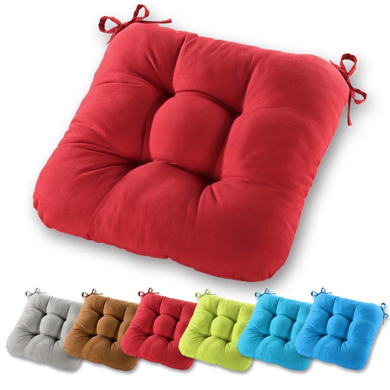 stuhlkissen sitzkissen 40x40x10cm steppkissen deko garten polster auflage boden ebay. Black Bedroom Furniture Sets. Home Design Ideas