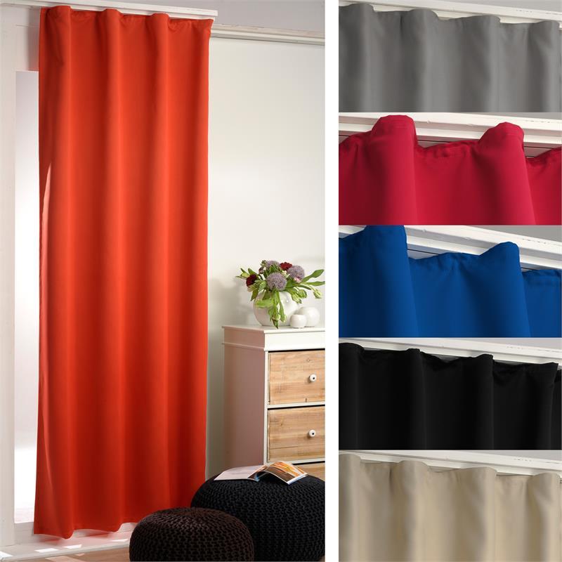verdunklungsgardine thermogardine blickdicht gardine vorhang mit kr uselband neu ebay. Black Bedroom Furniture Sets. Home Design Ideas