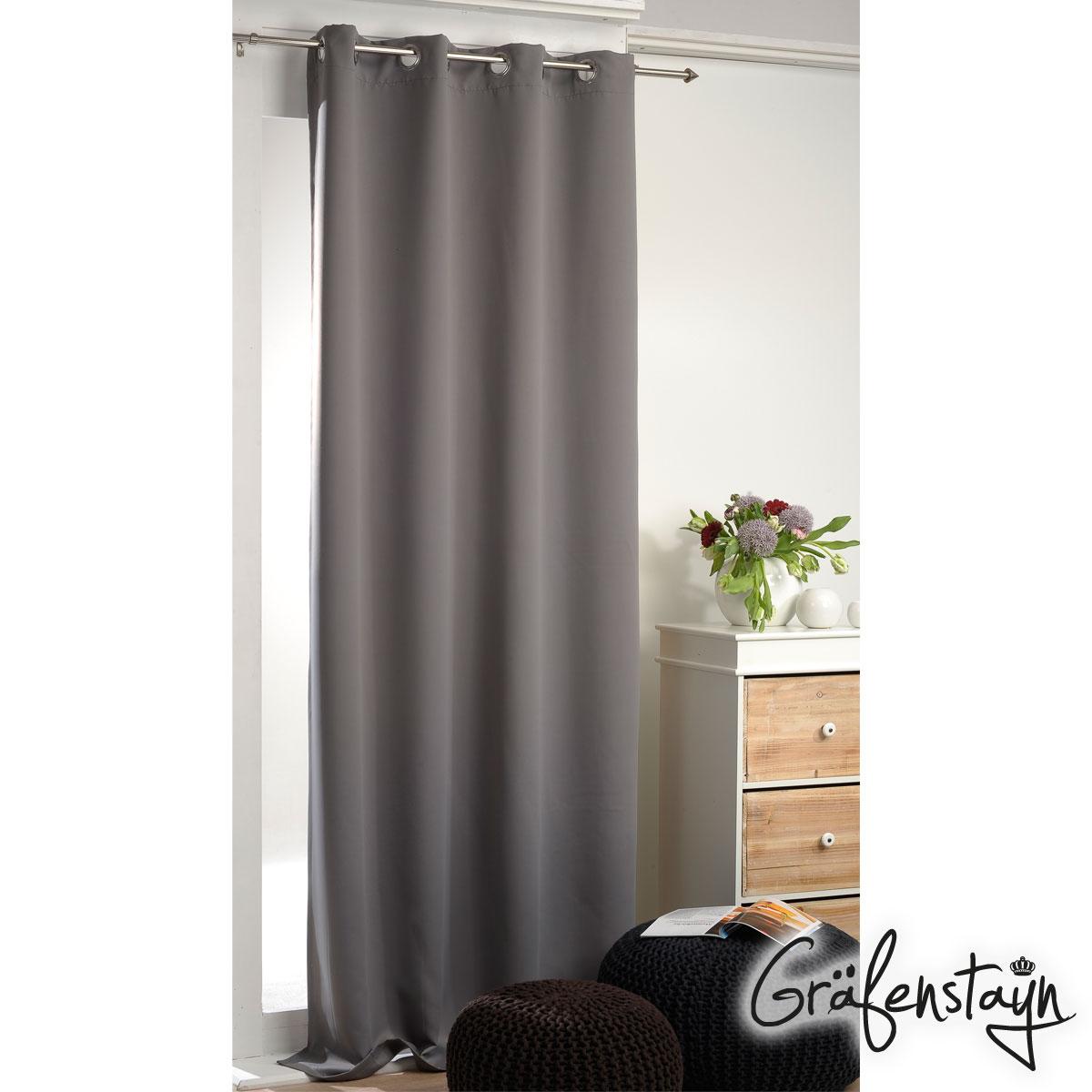 verdunklungsgardine thermogardine blickdicht gardine vorhang schal mit sen ebay. Black Bedroom Furniture Sets. Home Design Ideas