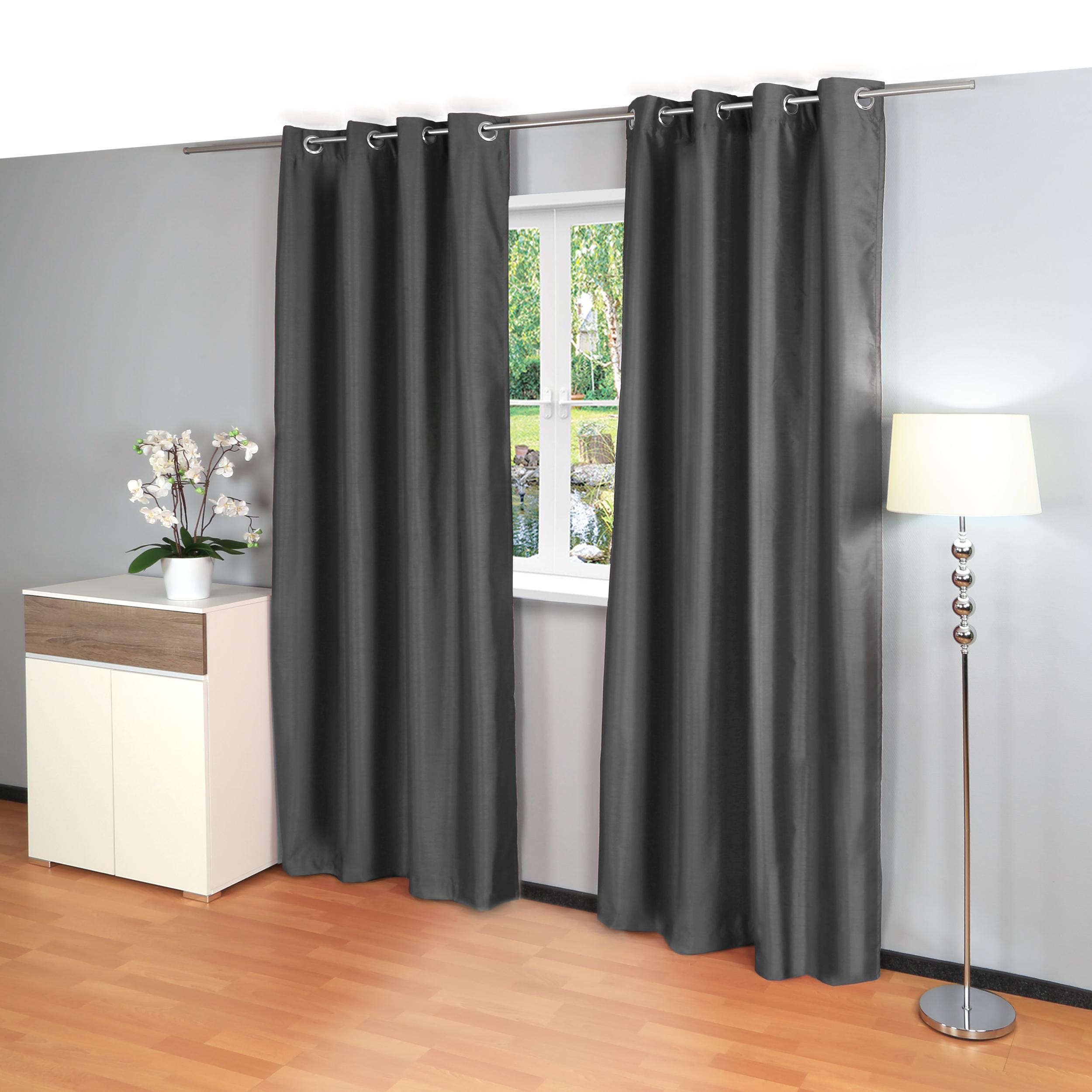 blickdichte vorh nge mit sen m belideen. Black Bedroom Furniture Sets. Home Design Ideas