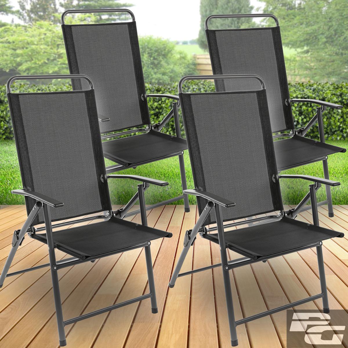 gartenm bel set glastisch rund klappstuhl sitzgruppe gartengarnitur sitzgarnitur ebay. Black Bedroom Furniture Sets. Home Design Ideas