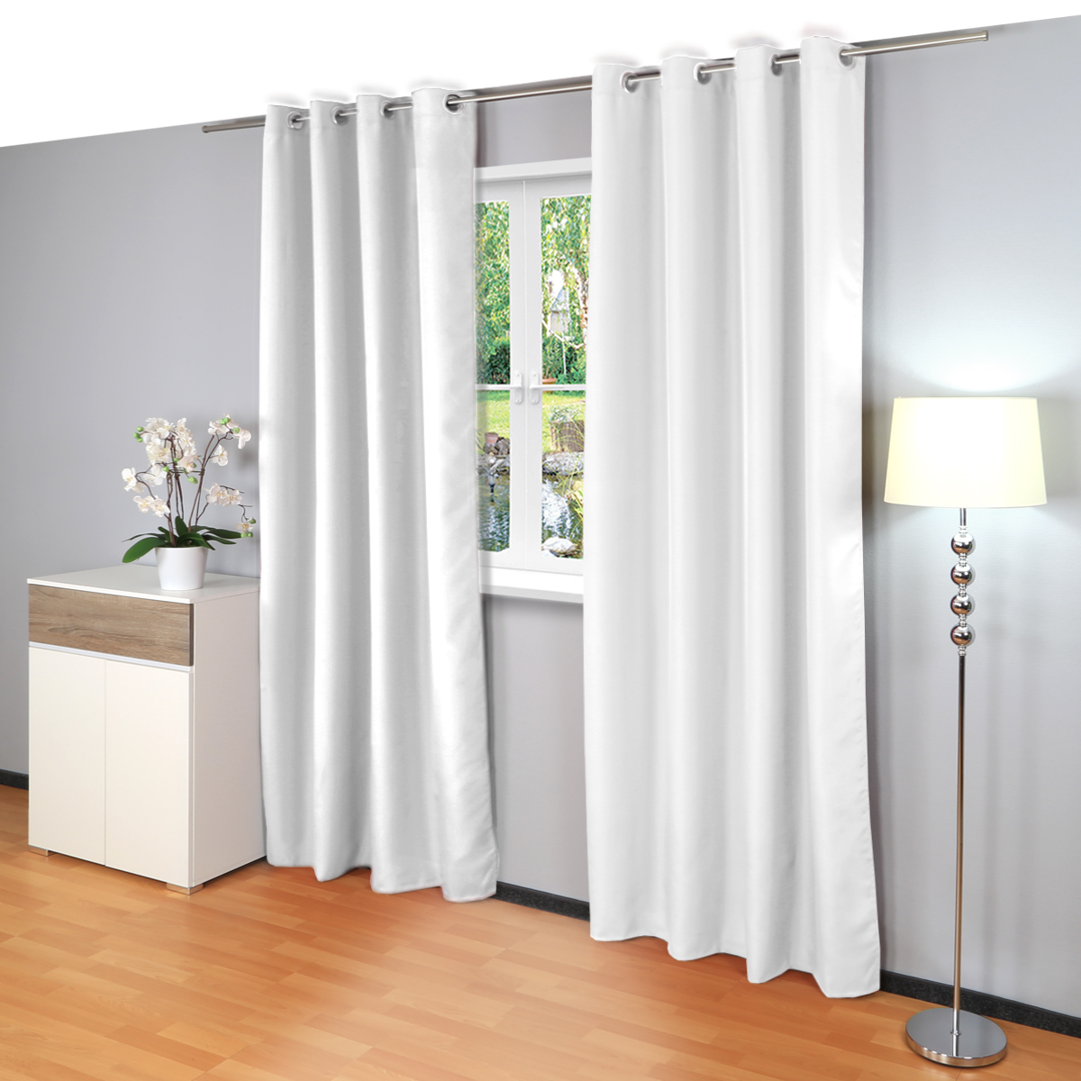 senvorhang ocean vorhang gardine senschal 140x245cm thermo blickdicht. Black Bedroom Furniture Sets. Home Design Ideas