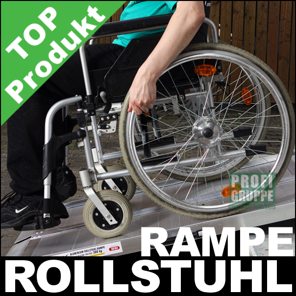 Rollstuhlrampe-178cm-Alu-klappbar-300Kg-mobile-Auffahrrampe-NEU