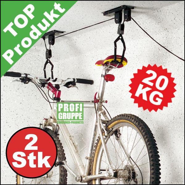 2x-Fahrrad-Lift-Bike-Lift-Fahrradaufhaengung-Fahrradhalter-Halter-TUV-GS