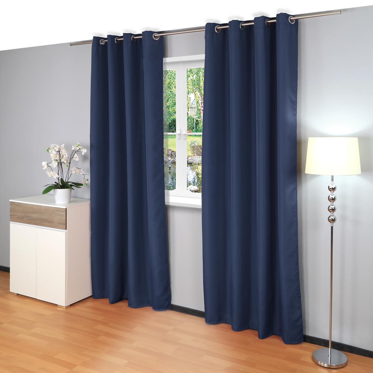 senvorhang ocean vorhang gardine senschal 140x245cm thermo blickdicht ebay. Black Bedroom Furniture Sets. Home Design Ideas