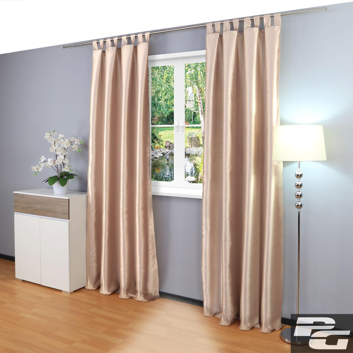 schlaufenschal dekoschal gardine vorhang schlaufenvorhang blickdicht ebay. Black Bedroom Furniture Sets. Home Design Ideas