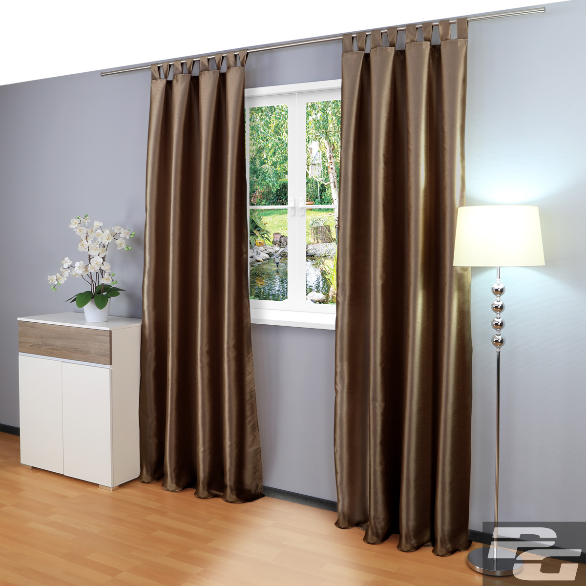 rollos f r doppelfenster braun beige raum und. Black Bedroom Furniture Sets. Home Design Ideas