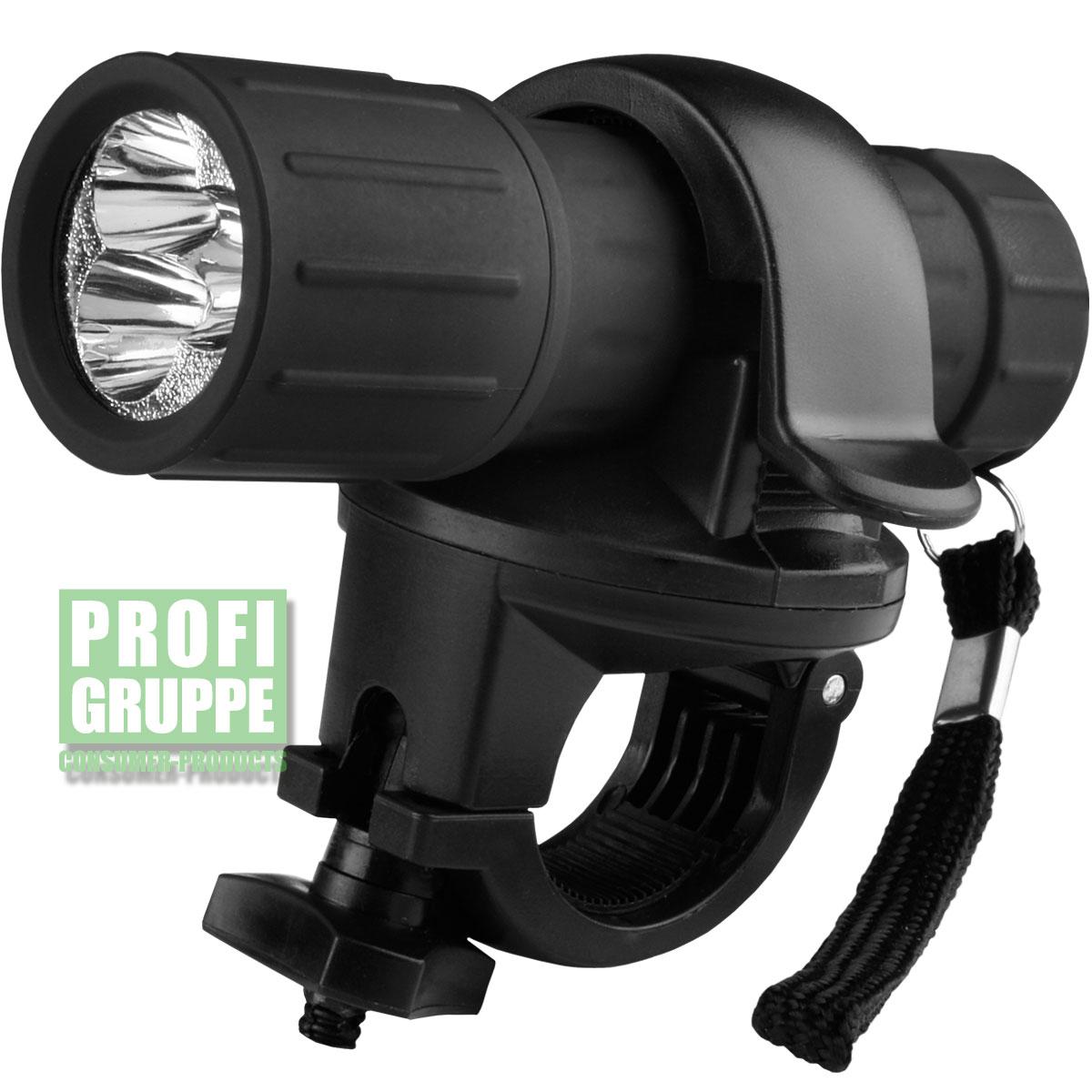 led fahrrad licht taschenlampe scheinwerfer fahrradlicht 360 halterung neu ebay. Black Bedroom Furniture Sets. Home Design Ideas