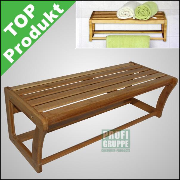 handtuchhalter regal h ngeregal wandregal badregal bambus. Black Bedroom Furniture Sets. Home Design Ideas