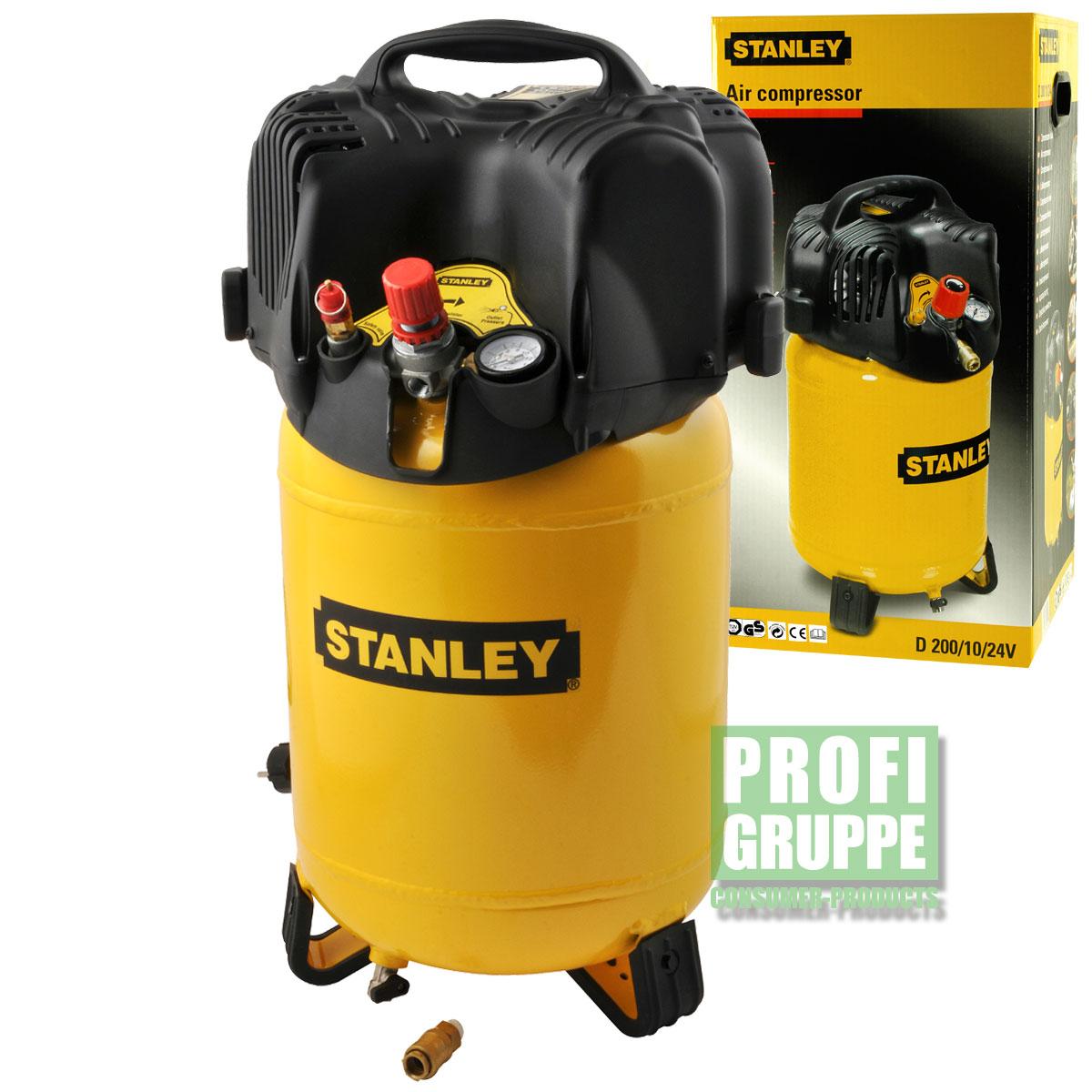 Stanley-Druckluft-Kompressor-1100W-10-bar-24-Liter-1-5-PS-Luftkompressor