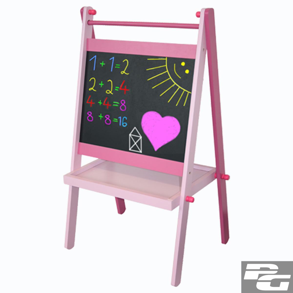 Schultafel mit kreide und schwamm  Standtafel Kindertafel Maltafel Holz Magnet Tafel (Kreide + ...