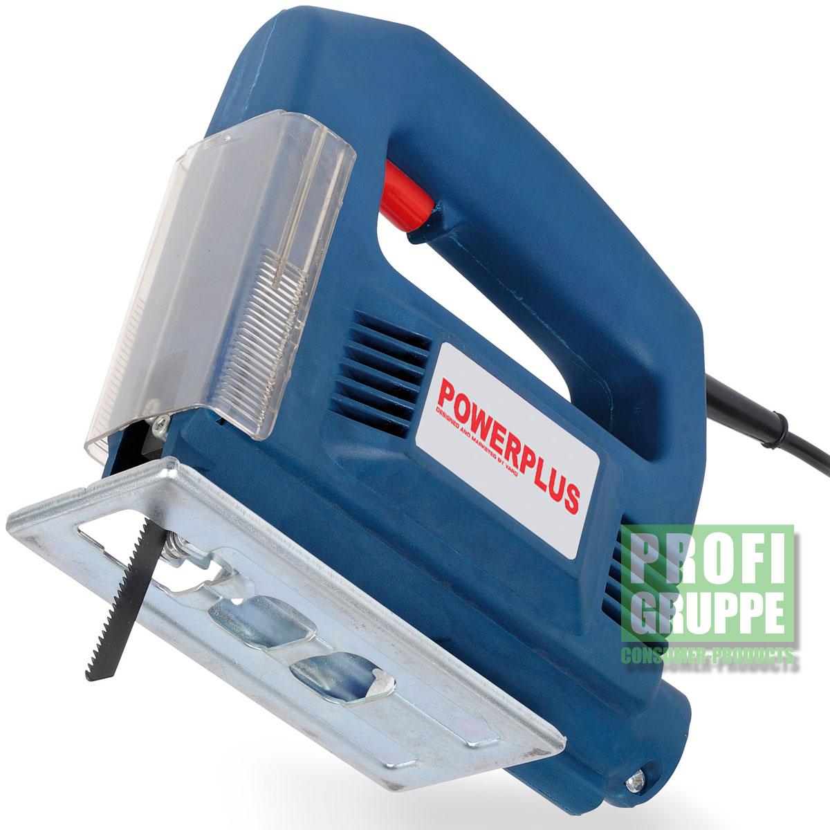 powerplus® elektrische stichsäge 350 watt pendelhubstichsäge säge