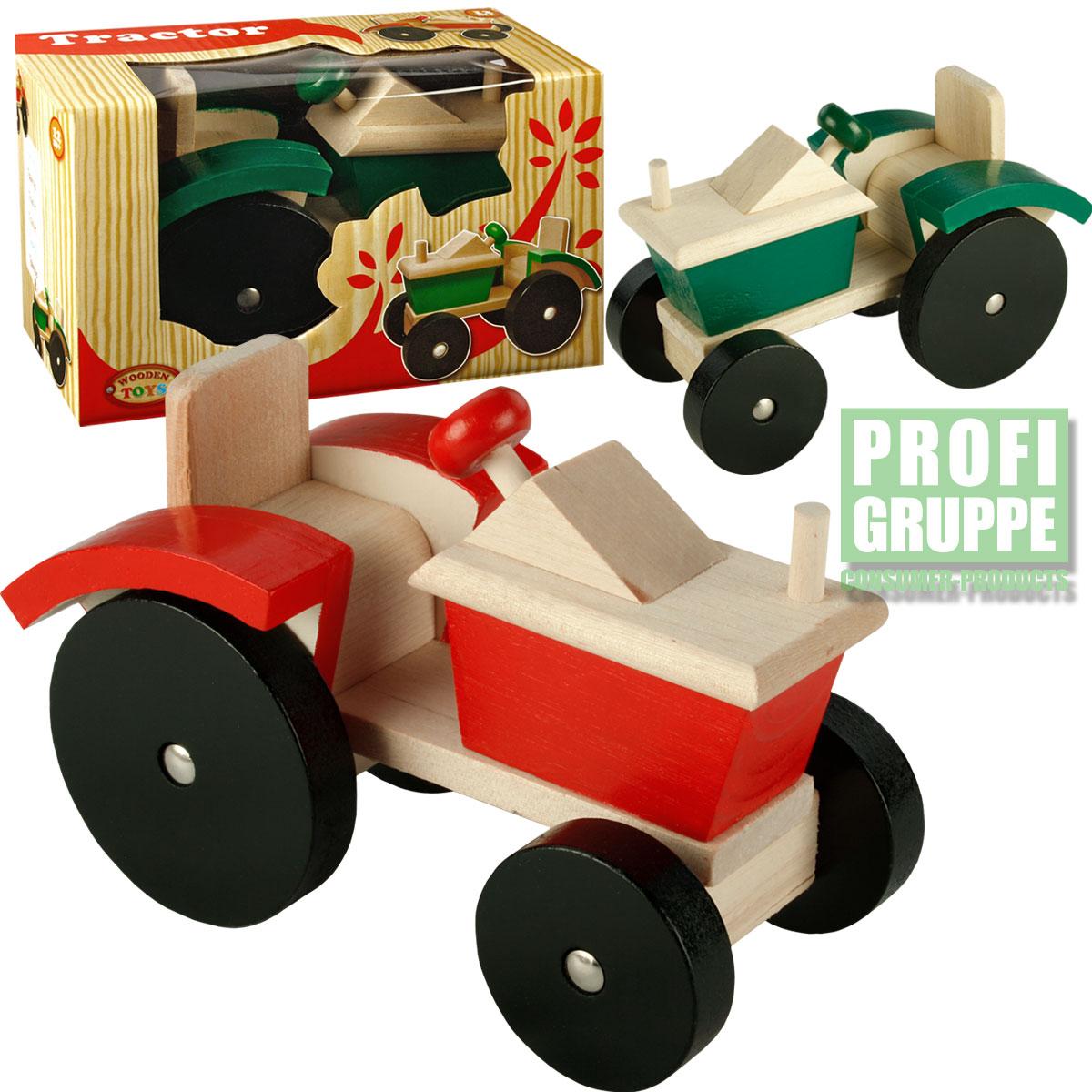 holztraktor traktor trecker bauernhof holzspielzeug spielzeug holz neu ebay. Black Bedroom Furniture Sets. Home Design Ideas
