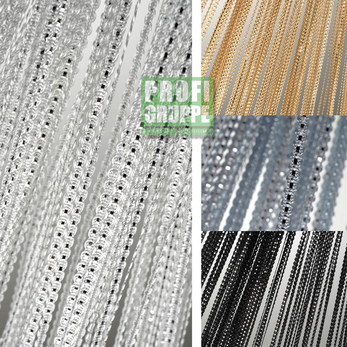 fadenvorhang vorhang raumteiler gardine sichtschutz insektenschutz neu ebay. Black Bedroom Furniture Sets. Home Design Ideas