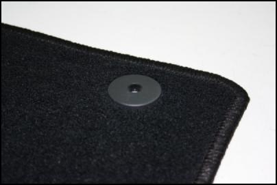 Velour-Fußmatte rund Detailansicht